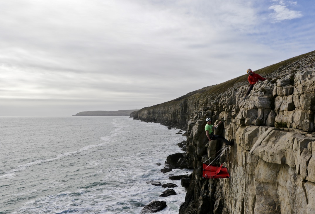 UK Cliff camping