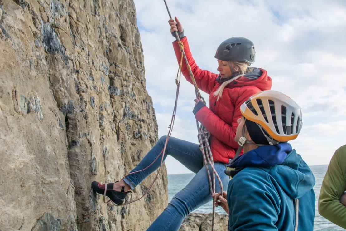 Dorset trad climbing course