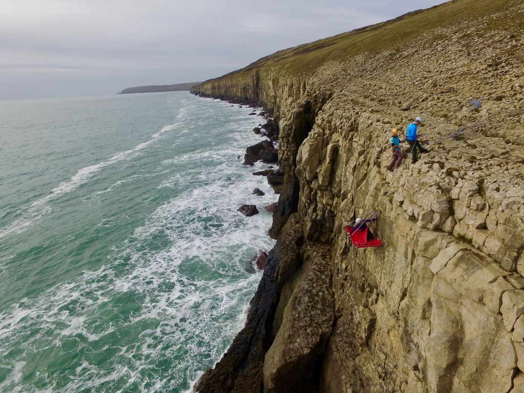 Swanage cliff camping